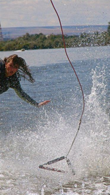 Though I landed without the rope this was me landing my first 360 on a wakeboard.