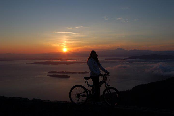 A picture of my second summit of Mount Consitution on my second bike tour of the San Juans