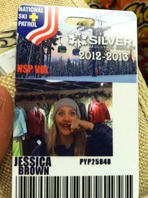 My ski patrol pass working at Silver Mountain.