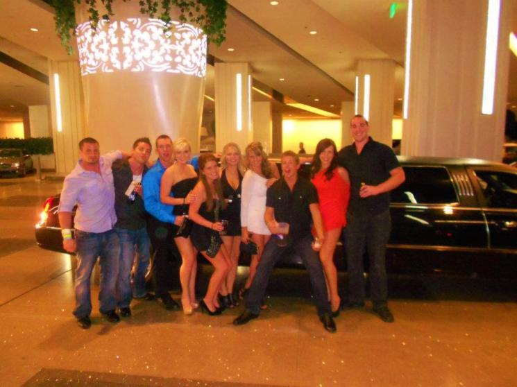 The crew in Vegas