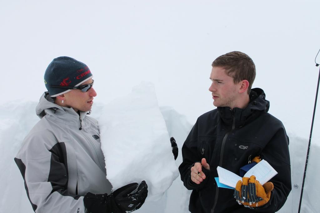Our trusty avalanche teachers, Jon and Colt